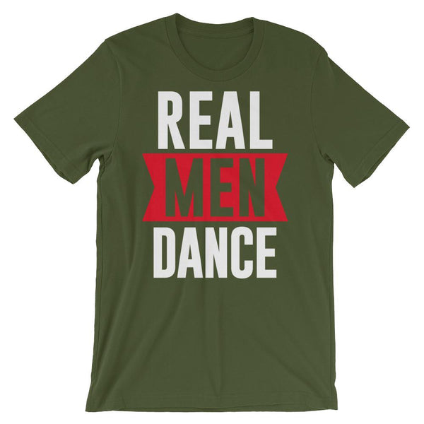 Real Men Dance (Tall) - Men's T-Shirt (Olive)