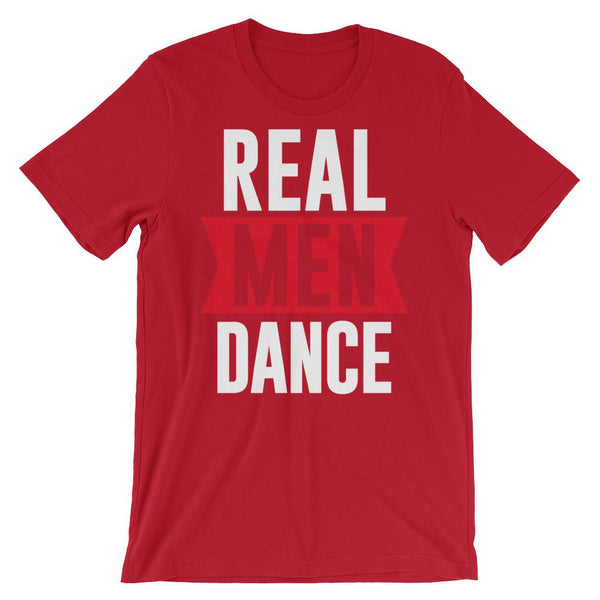 Real Men Dance (Tall) - Men's T-Shirt (Red)