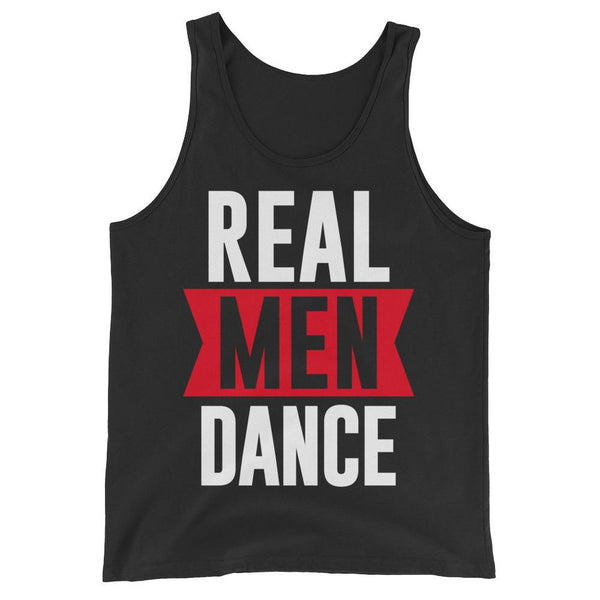 Real Men Dance (Tall) - Men's Tank Top (Black)