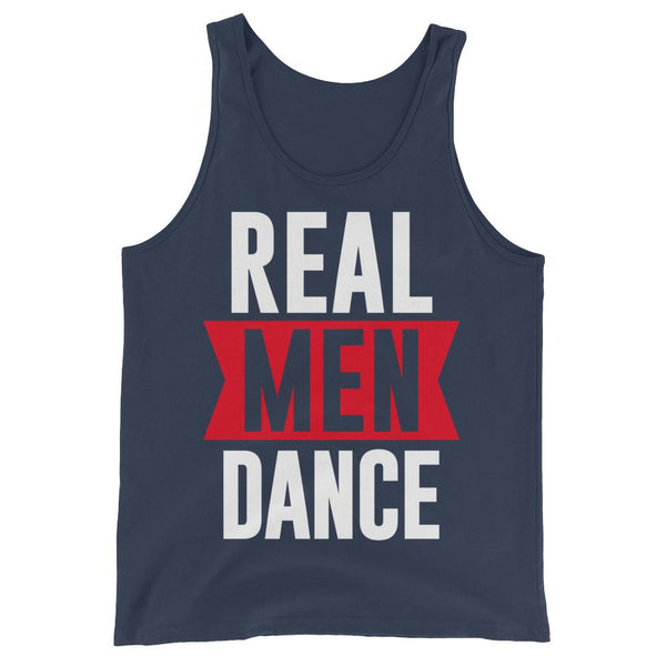 Real Men Dance (Tall) - Men's Tank Top (Navy)
