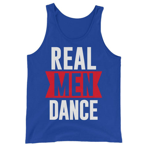 Real Men Dance (Tall) - Men's Tank Top (True Royal)