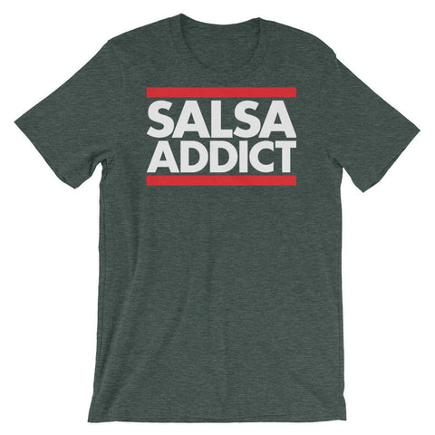 Salsa Addict - Men's T-Shirt (Heather Forest)