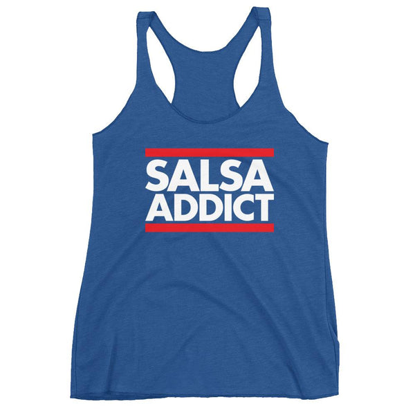 Salsa Addict - Women's Tank Top (Vintage Royal)