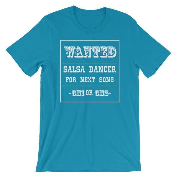 Salsa Dancer Wanted - Men's T-Shirt (Aqua)