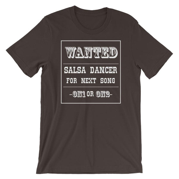 Salsa Dancer Wanted - Men's T-Shirt (Brown)