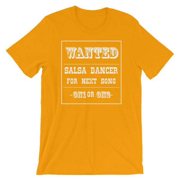 Salsa Dancer Wanted - Men's T-Shirt (Gold)