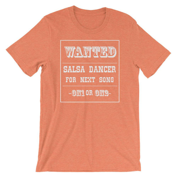 Salsa Dancer Wanted - Men's T-Shirt (Heather Orange)