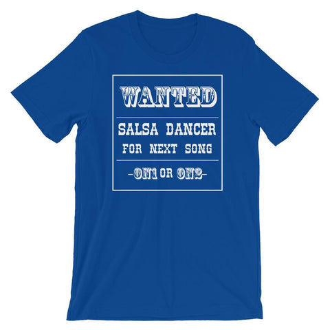 Salsa Dancer Wanted - Men's T-Shirt (True Royal)