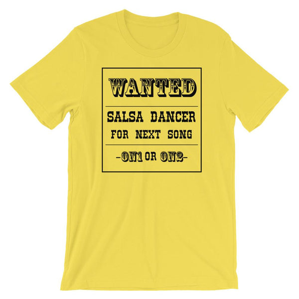Salsa Dancer Wanted - Men's T-Shirt (Yellow)