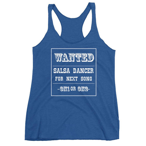 Salsa Dancer Wanted - Women's Tank Top (Vintage Royal)