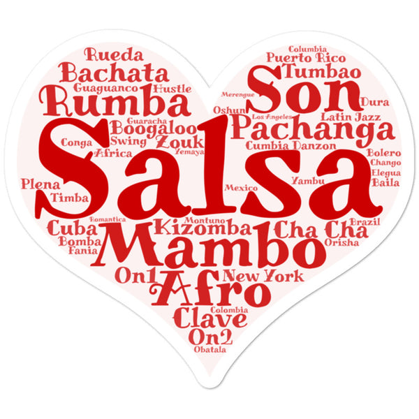Heart of Salsa - Sticker