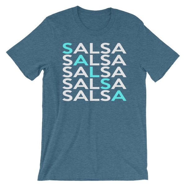 Salsa Salsa Salsa Salsa Salsa - Men's T-Shirt (Heather Deep Teal)