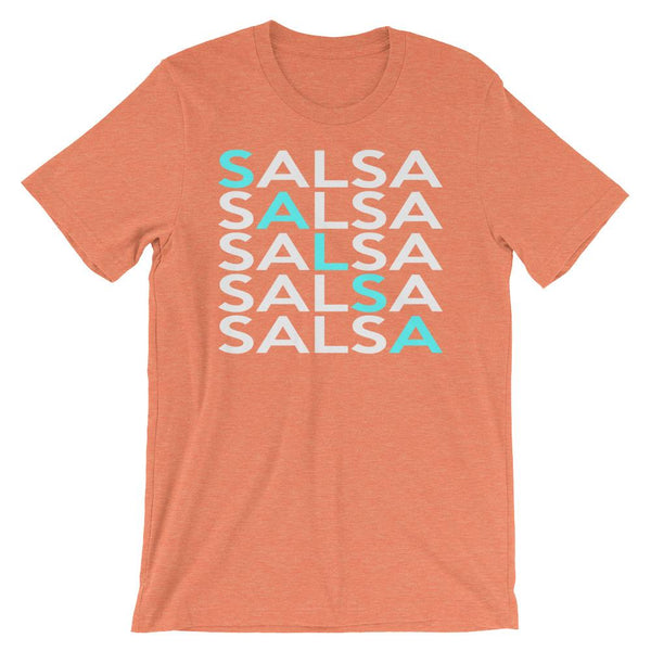 Salsa Salsa Salsa Salsa Salsa - Men's T-Shirt (Heather Orange)