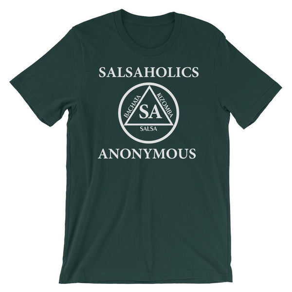 Salsaholics Anonymous - Men's T-Shirt (Forest)
