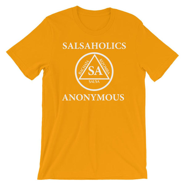 Salsaholics Anonymous - Men's T-Shirt (Gold)
