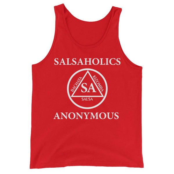 Salsaholics Anonymous - Men's Tank Top (Red)