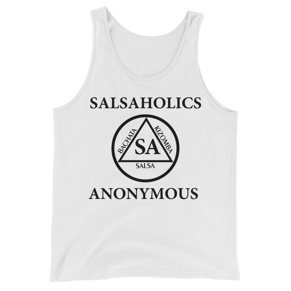 Salsaholics Anonymous - Men's Tank Top (White)