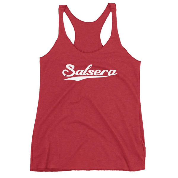 Salsera Swoosh - Women's Tank Top (Vintage Red)