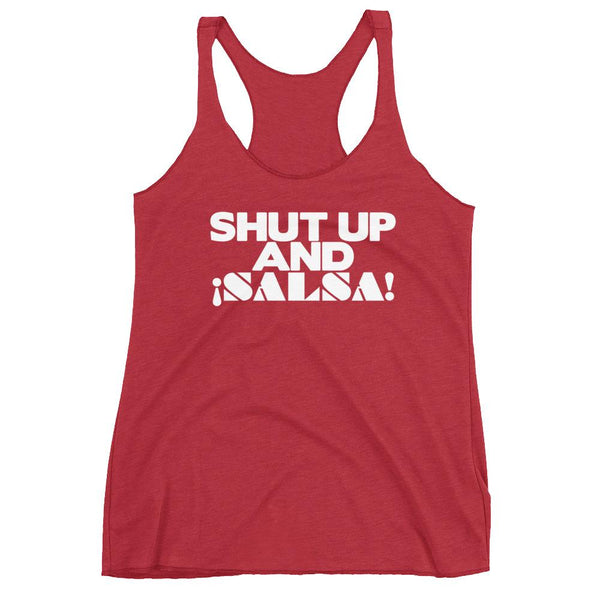 Shut Up And Salsa - Women's Tank Top (Vintage Red)