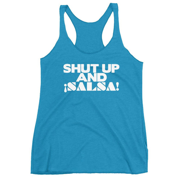 Shut Up And Salsa - Women's Tank Top (Vintage Turquoise)