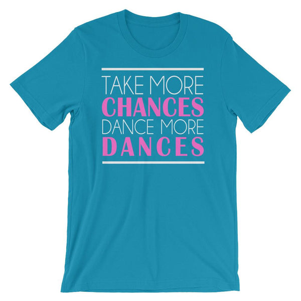 Take More Chances - Women's T-Shirt (Aqua)