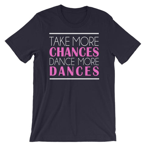 Take More Chances - Women's T-Shirt (Navy)