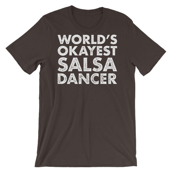 World's Okayest Salsa Dancer - Men's T-Shirt (Brown)