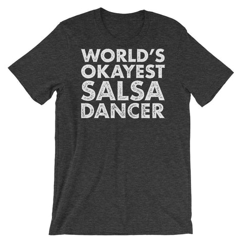 World's Okayest Salsa Dancer - Men's T-Shirt (Dark Grey Heather)