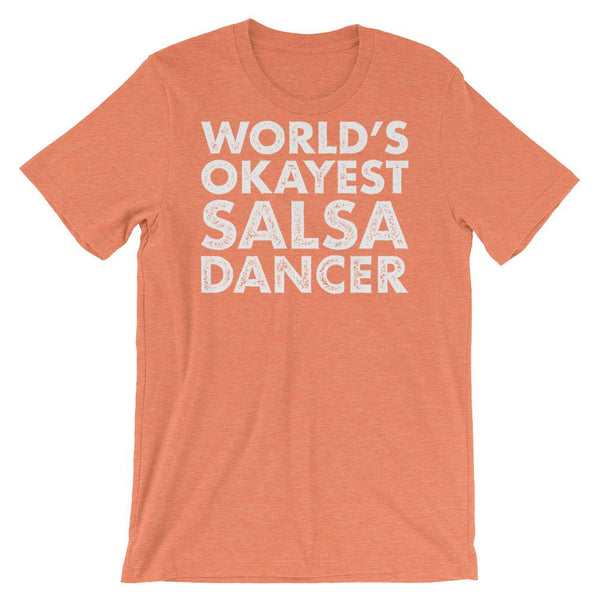 World's Okayest Salsa Dancer - Men's T-Shirt (Heather Orange)