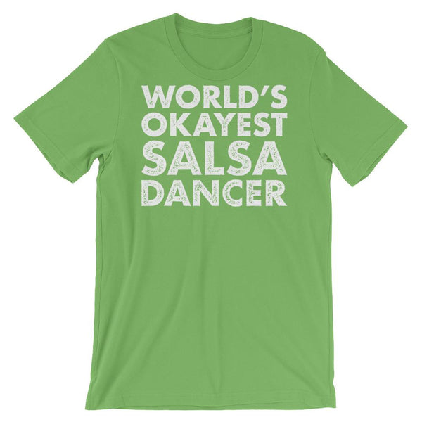 World's Okayest Salsa Dancer - Men's T-Shirt (Leaf)