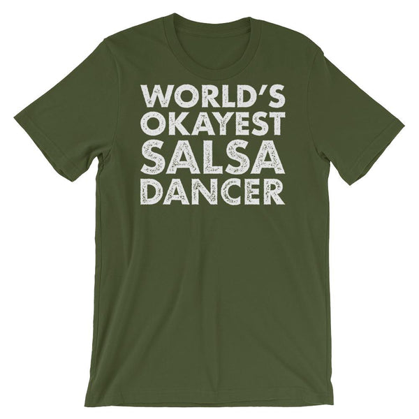 World's Okayest Salsa Dancer - Men's T-Shirt (Olive)