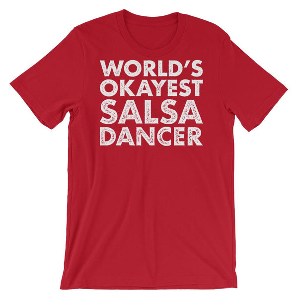 World's Okayest Salsa Dancer - Men's T-Shirt (Red)