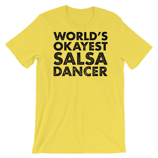 World's Okayest Salsa Dancer - Men's T-Shirt (Yellow)