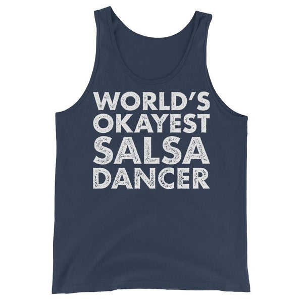 World's Okayest Salsa Dancer - Men's Tank Top (Navy)
