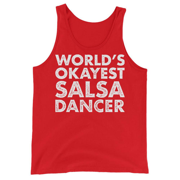 World's Okayest Salsa Dancer - Men's Tank Top (Red)