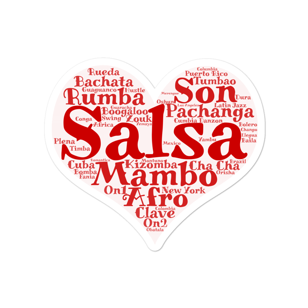 Salsa Dancing Stickers