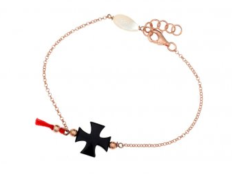 WanderingMarket Gregio Jewellery Rose Gold and Cross bracelet