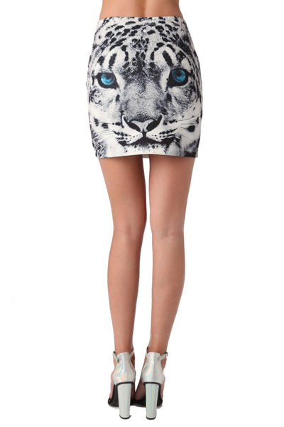 Mini skirt with tiger print