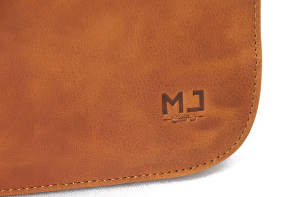 Vintage by MJ - Messenger Bag Men and Women Leather -Moroccan Leather - Handmade