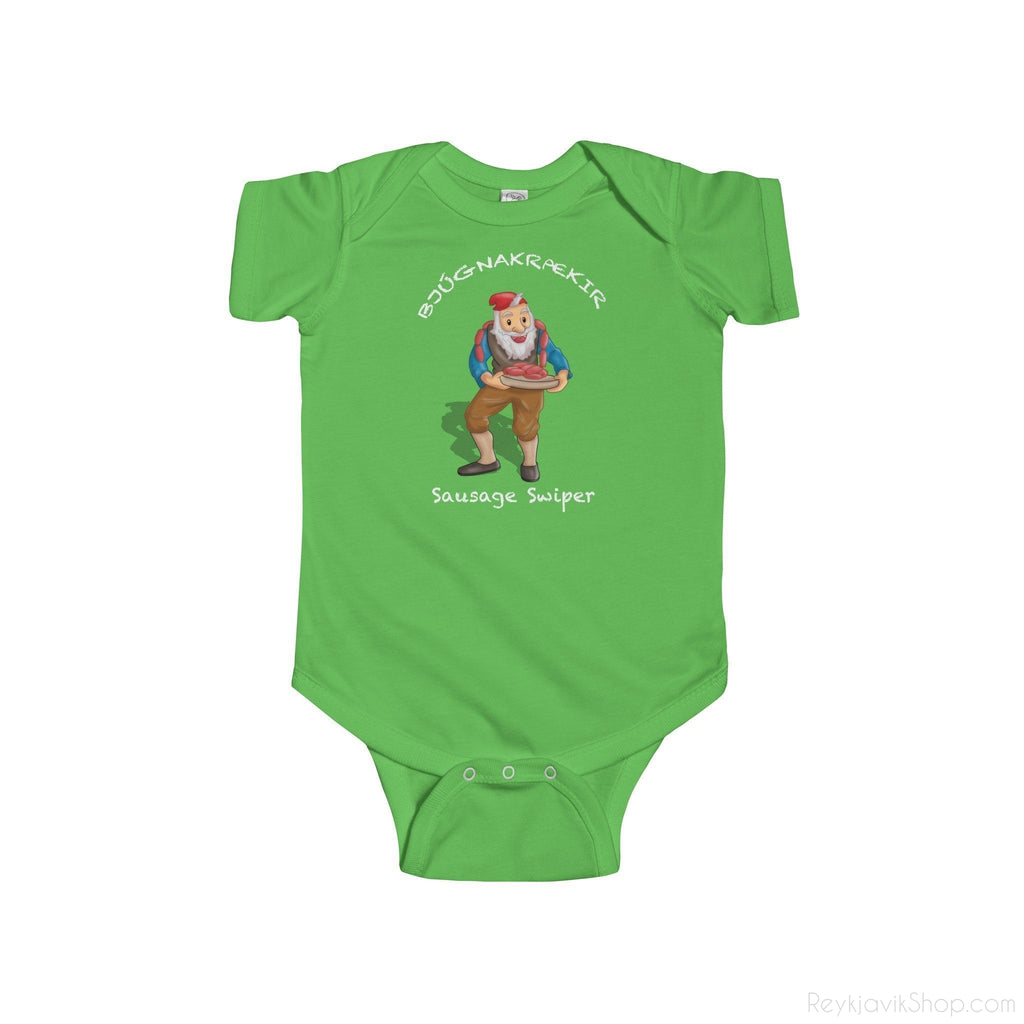 Bjúgnakrækir - Sausage Swiper - Infant Bodysuit - Santa Claus - Christmas-Kids clothes-Reykjavik Shop