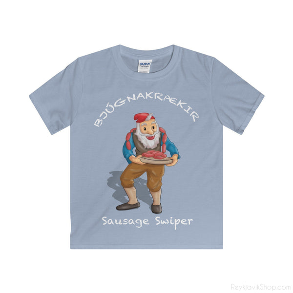 Bjúgnakrækir - Sausage Swiper - Youth T-Shirt - Santa Claus-Kids clothes-Reykjavik Shop