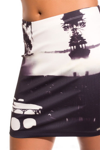 Mini skirt with photo print
