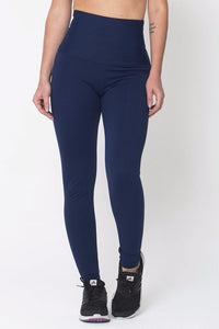 Navy High Up Legging
