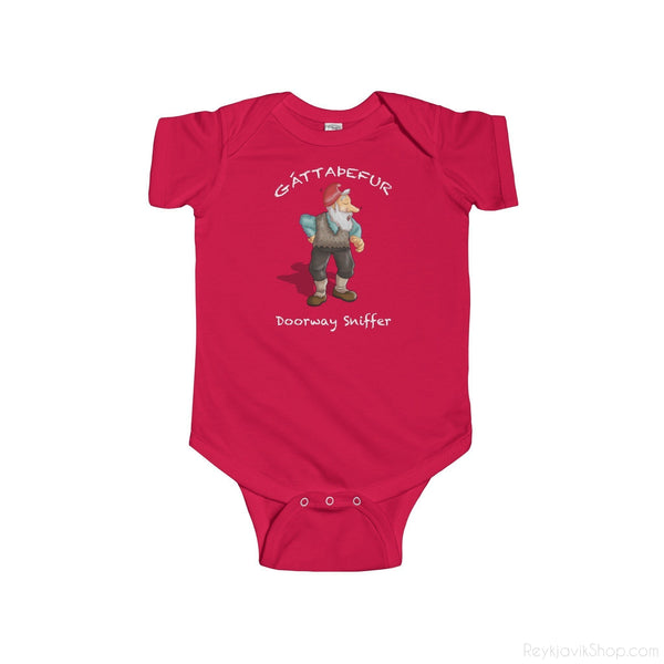 Gáttaþefur - Doorway Sniffer - Infant Bodysuit - Santa Claus - Christmas-Kids clothes-Reykjavik Shop