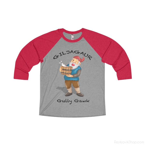 Giljagaur - Gully Gawk - Tri-Blend Unisex 3/4 Shirt - Santa Claus-Long-sleeve-Reykjavik Shop