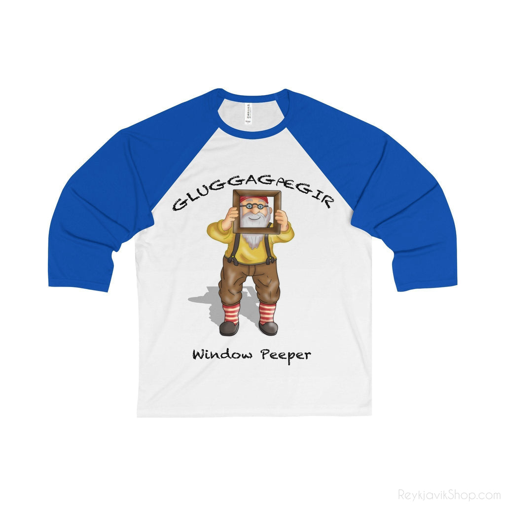 Gluggagægir - Window Peeper - Unisex 3/4 Tee - Santa Claus-Long-sleeve-Reykjavik Shop
