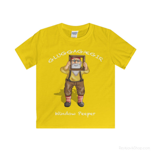 Gluggagægir - Window Peeper - Youth T-Shirt - Santa Claus-Kids clothes-Reykjavik Shop
