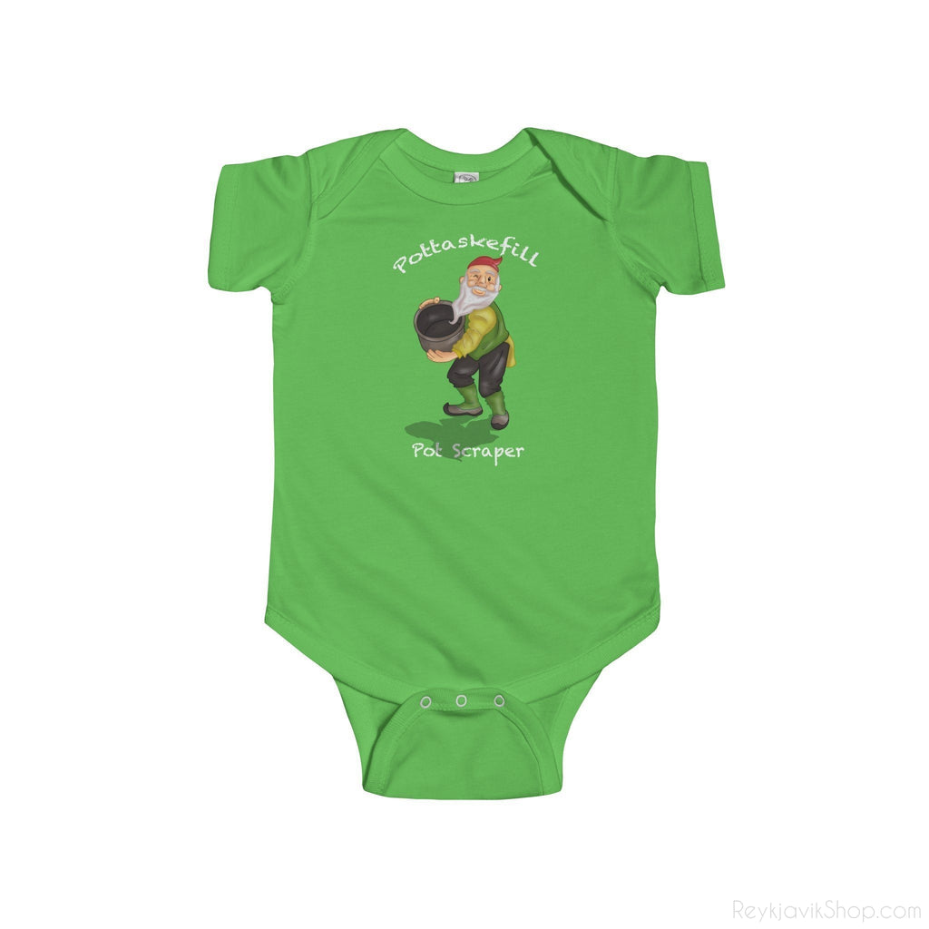 Pottaskefill - Pot Scraper - Infant Bodysuit - Santa Claus - Christmas-Kids clothes-Reykjavik Shop