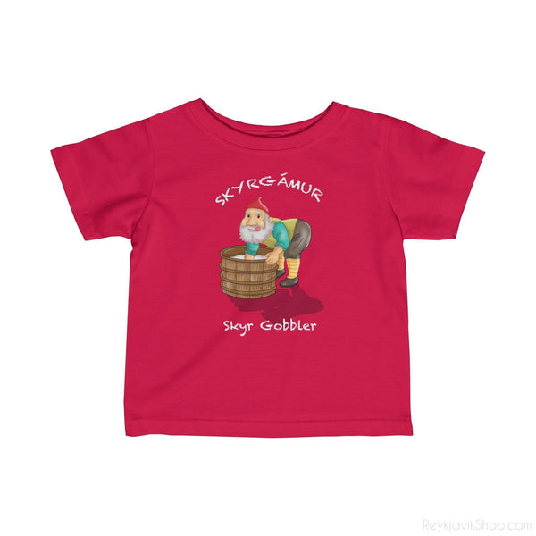 Skyrgámur - Skyr Gobbler - Infant Tee - Santa Claus-Kids clothes-Reykjavik Shop