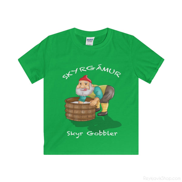 Skyrgámur - Skyr Gobbler - Youth T-Shirt - Santa Claus-Kids clothes-Reykjavik Shop
